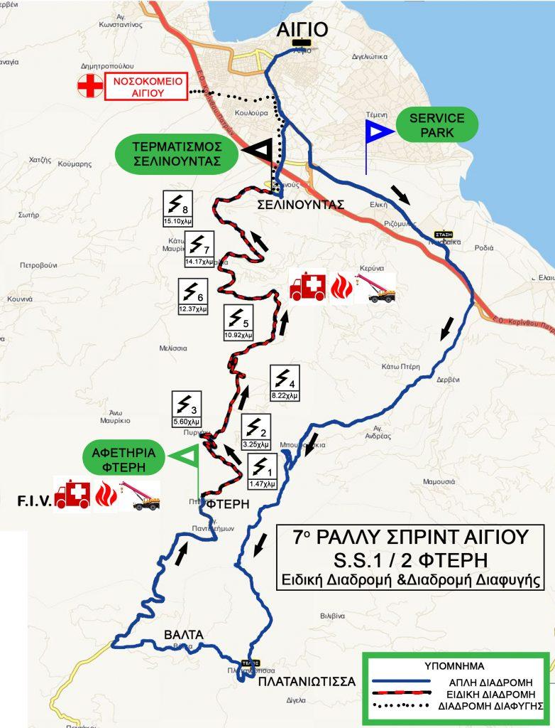 Χάρτης Αγώνα - 7ο Ραλλυ Σπριντ
